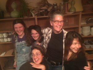 Michele Kowalski and the Children's Program fall 2018 interns