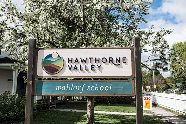 Hawthorne Valley Waldorf School sign
