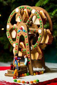 Gingerbread ferris wheel from 2019 photo by Benjamin Edelman