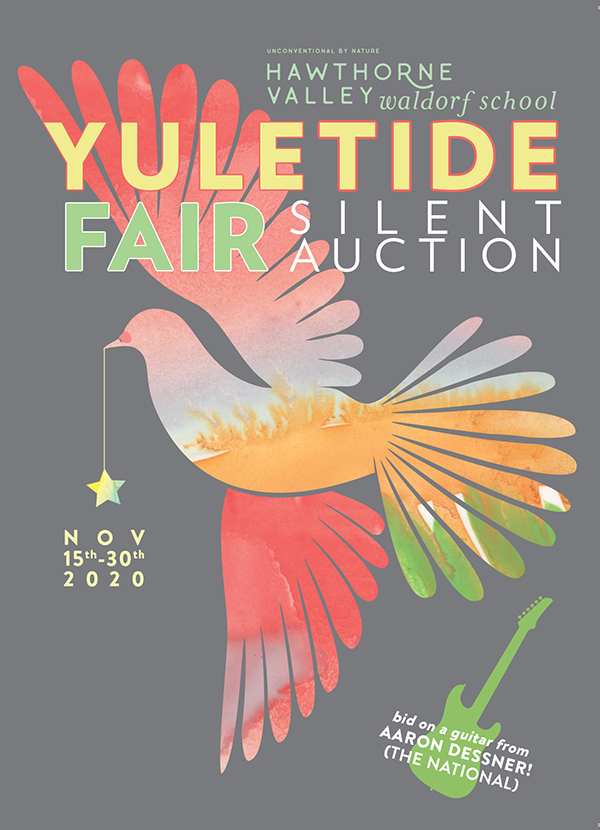 yuletide fair silent auction poster