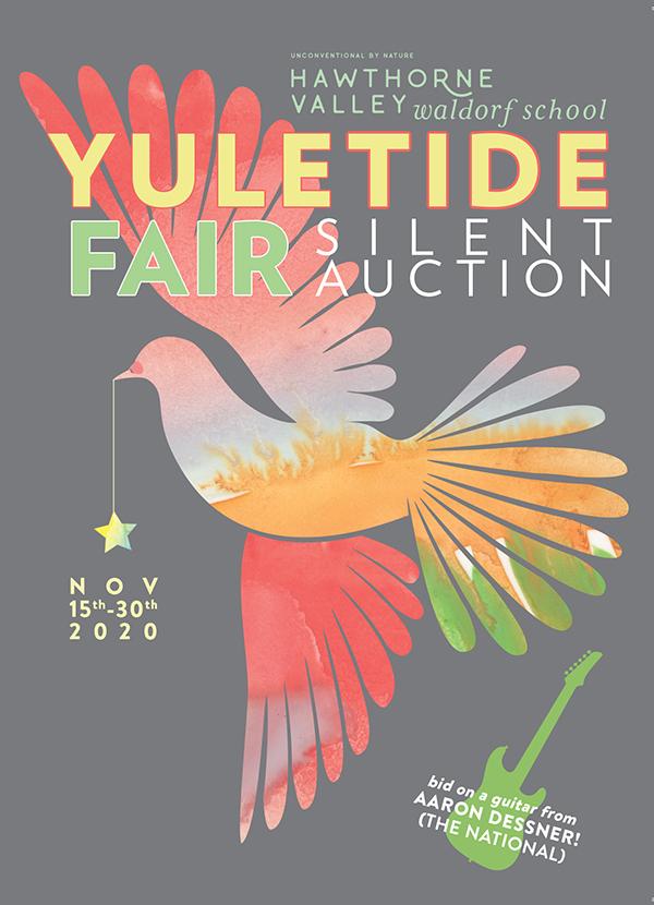 yuletide fair silent auction poster