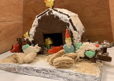 Jarzombek gingerbread contest entry front view
