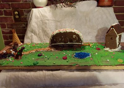 Shea gingerbread contest entry front view