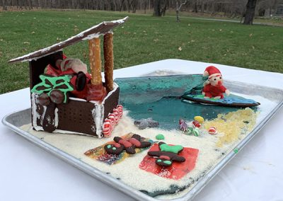 Ackley gingerbread contest entry front view