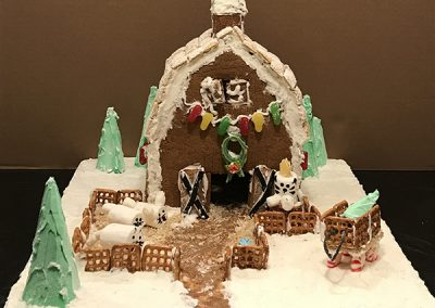 Slauson gingerbread contest entry front view