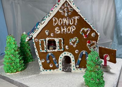Bachrach gingerbread entry front view