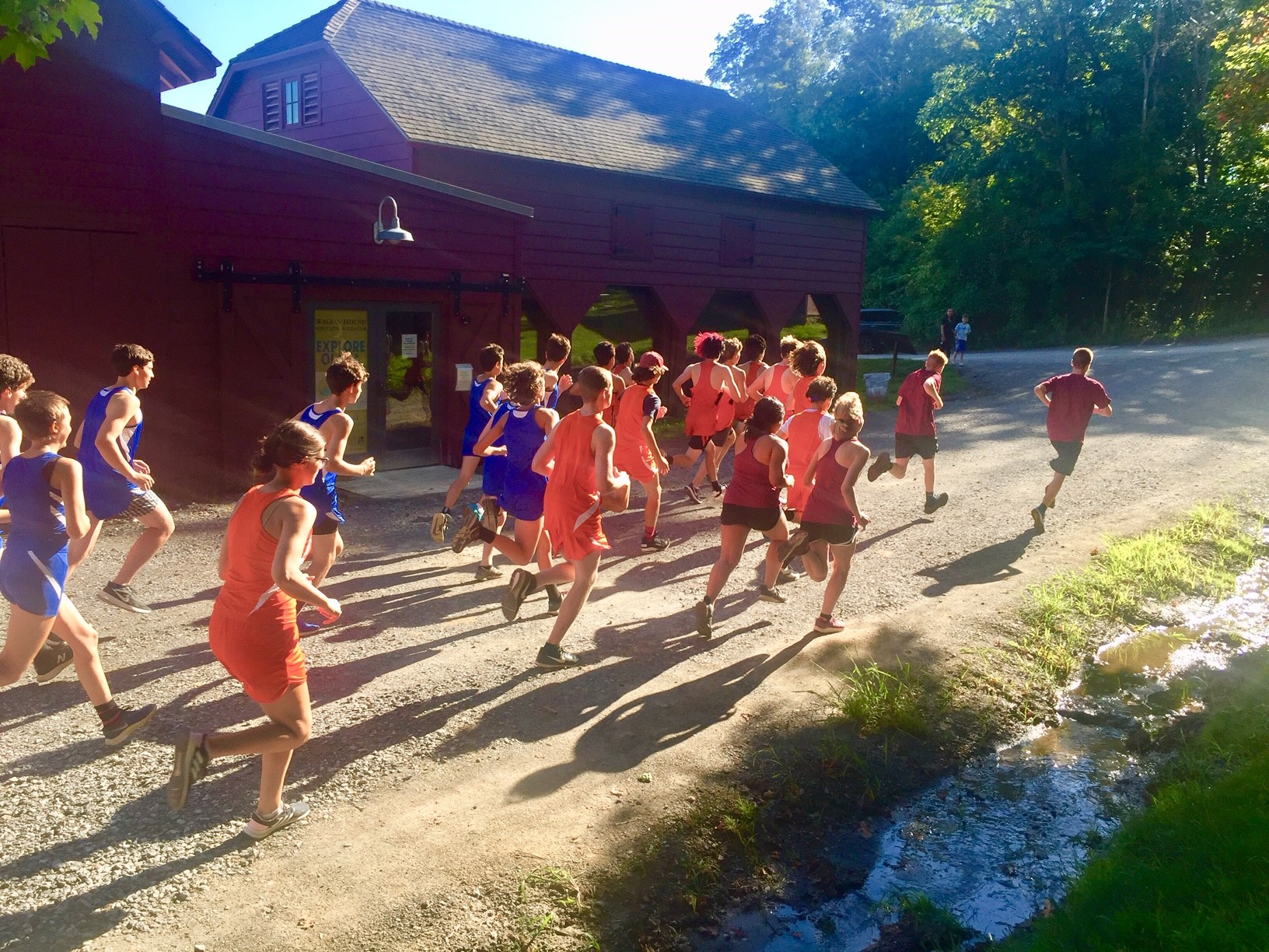 Runners on their way at first cross country meet of the season