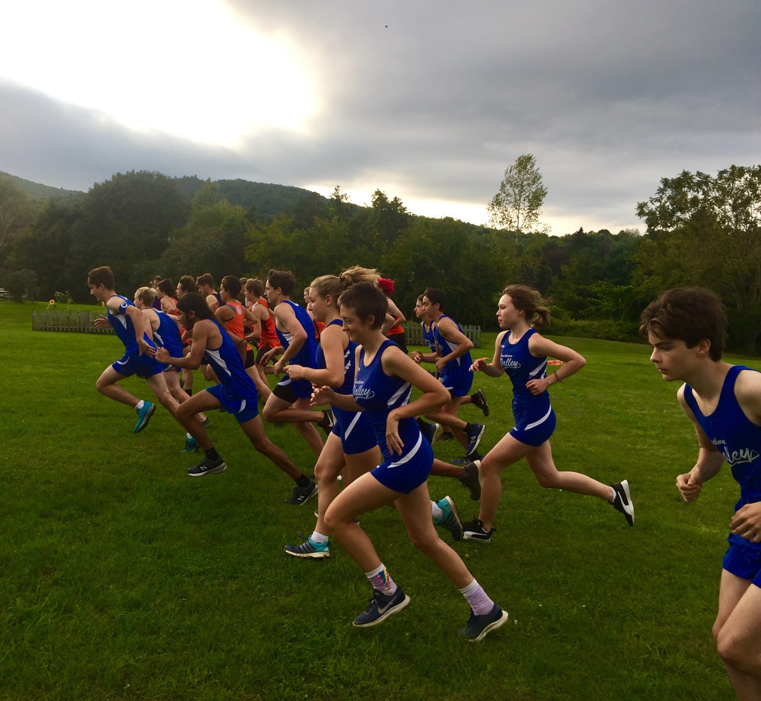 ...and they're off - the cross country team in action at this past Tuesday's meet